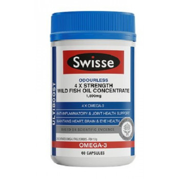 Swisse 4 x Strength Wild Fish Oil Concentrate 60 Caps