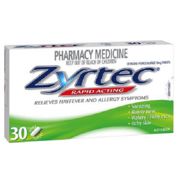 Zyrtec 10Mg Tablets x30