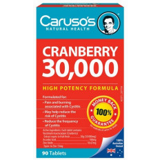 Caruso's Cranberry 30,000 X 90 Tablets