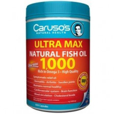 Caruso's Omega3 MAX Natural Fish Oil 1000mg 600Caps