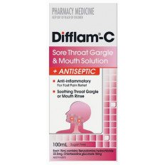 Difflam-C Sore Throat Gargle and Mouth Solution 100ml
