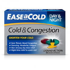 Ease A Cold Cold & Congestion Day & Night 30 Liquid Caps