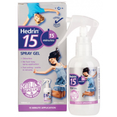 Hedrin 15 minutes Spray Gel 100mL
