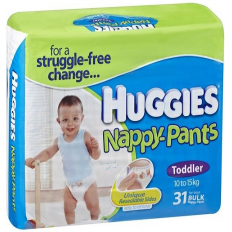 Huggies Nappy-Pants Toddler Boy 10-15kg Bulk 31