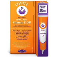Invite E 100% Pure Vitamin E Oil 30mL