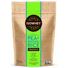 IsoWhey Wholefoods Organic Pea + Brown Rice Protein Powder 525g