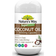 Nature's Way Superfoods Coconut Oil 60 Capsules