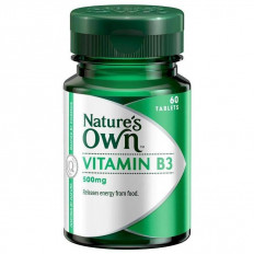 Nature's Own Vitamin B3 500mg x 60 TABS