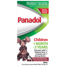 Panadol Children Baby Drops Colourfree 20mL With Dosing Device