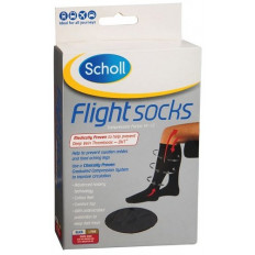 Scholl Flight Socks Unisex Black W5-8/M3-6