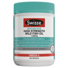Swisse Odourless High Strength Wild Fish Oil 1500mg  200 Caps