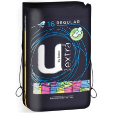 U by Kotex Pads Regular with Wings 16