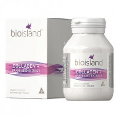 Bio Island Collagen + Grape Seed Extract 60 Capsules