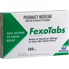 FexoTabs 180mg 30 Tablets