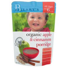 Bellamy's Organic Apple Cinnamon Porridge 125g