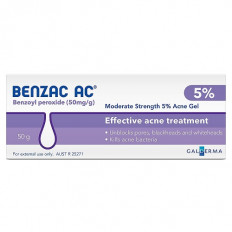 Benzac Ac Gel 5.0% 50Gm
