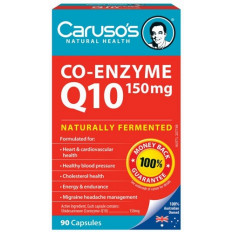 Caruso's Co-Enzyme Q10 150mg 90 Capsules