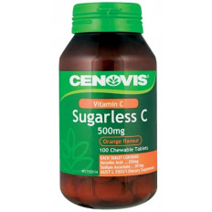 Cenovis Sugarless C 500mg Orange Flavour Tabs 100