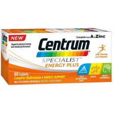 Centrum Specialist Energy Plus 60 Tablets