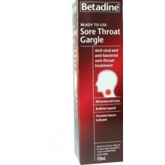 Betadine Ready to Use Sore Throat Gargle 120mL