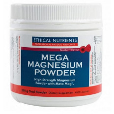 Ethical Nutrients Mega Magnesium Powder 200g - Raspberry Flavour