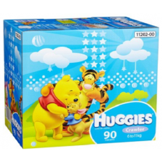 Huggies Nappies Crawler Boy 6-11kg Jumbo 90