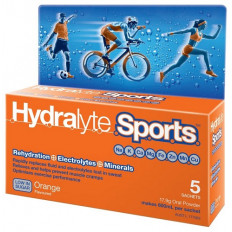 Hydralyte Sports Orange Flavoured 5 Sachets