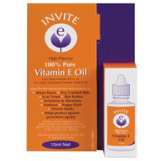 Invite E 100% Pure Vitamin E Oil 15mL