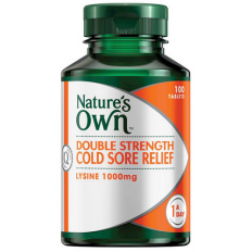 Nature's Own Double Strength Cold Sore Relief 100 Tabs