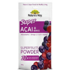 Nature's Way Super Acai + Berries Superfruits Powder 50g