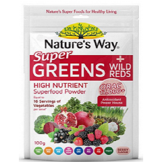 Nature's Way Super Greens plus Wild Reds Powder 100g