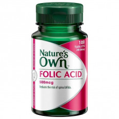 Nature's Own Folic Acid 500MCG X 100 TABS