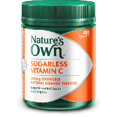 Nature's Own Sugarless Vitamin C 500mg Chewable Tablets x400