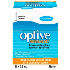 Optive Advanced Lubricant Eye Drops 30x0.4mL