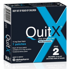 QuitX 14mg Step 2 Clear Patch 7 Patches