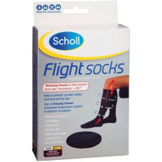 Scholl Flight Socks Unisex Black W8-11 / M6-9