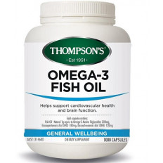 Thompsons Omega 3 Fish Oil 1000 Capsules