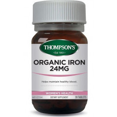 Thompsons Organic Iron 24mg 30 tablets