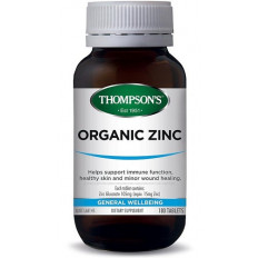 Thompsons Organic Zinc 180 tablets