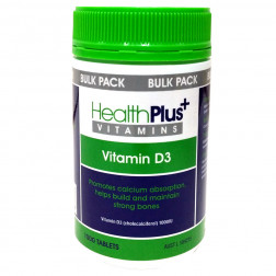 Health Plus Vitamin D3 Bulk Pack 1000.