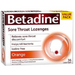 Betadine Sore Throat Lozenges Orange 36