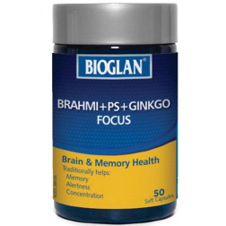 Bioglan Brahmi Plus PS Plus Ginkgo Focus 50 Caps