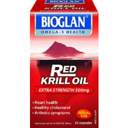 Bioglan Red Krill Oil Extra Strength 500mg 30 Caps