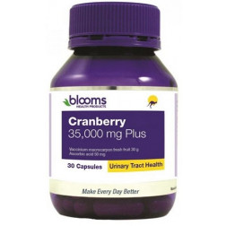 Blooms Cranberry 35,000mg Plus 30 Capsules