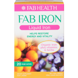 FAB Iron Liquid 20x10ml Single Sachets