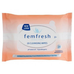 FemFresh Cleansing Wipes 20 Pack