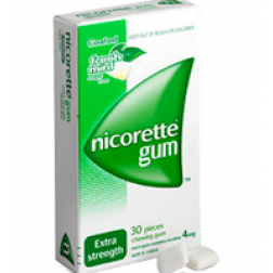 Nicorette Gum Fresh Mint Extra Strength 4mg x 30