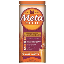 Metamucil Fibre Supplement Orange Smooth 72 Doses