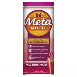 Metamucil Fibre Supplement Wild Berry Smooth 72 Doses