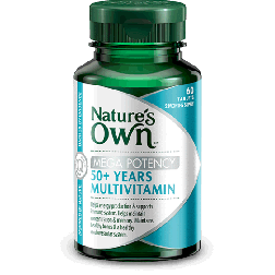 Nature's Own Mega Potency Fifty Plus Multi Vitamin x 60 Tabs